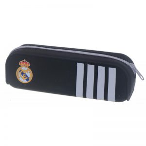 Diakakis Κασετίνα Σιλικόνης Μαύρη Με Λευκές Ρίγες Real Madrid 170574