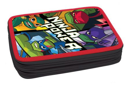 Gim Κασετίνα Διπλή Γεμάτη Turtles Ninja Rise 334-01100