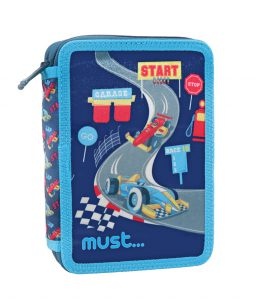 Must Κασετίνα Διπλή Γεμάτη Premium Racing Blue 579796