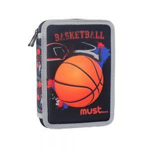 Must Κασετίνα Διπλή Γεμάτη 3D Basketball 579806
