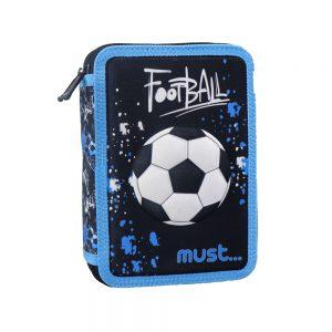 Must Κασετίνα Διπλή Γεμάτη 3D Football 579820