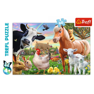 Trefl – Puzzle Cheerful Farm Animals 60 Pcs 17320
