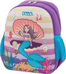Polo Τσάντα Πλάτης Νηπιαγωγείου Animal Junior Mermaid 2019 9-01-014-62