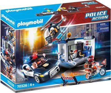Playmobil City Action Αστυνομικός Σταθμός με ελικόπτερο και περιπολικό (70326)