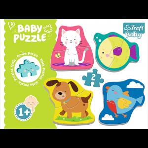 Trefl – Baby Puzzle, Little Animals 8 Pcs 36074