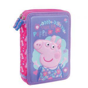 Diakakis Κασετίνα Διπλή Γεμάτη 3D Peppa Pig 482427