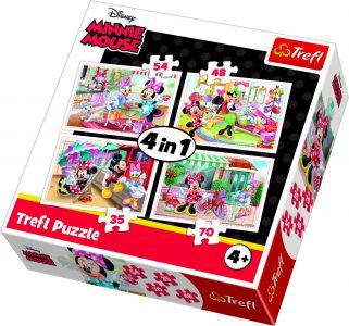 Trefl Puzzle 4 in 1 35/48/54/70 Pcs Minnie & Friends 34315