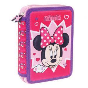 Diakakis Κασετίνα Διπλή Γεμάτη 3D Minnie Mouse Smile 562197
