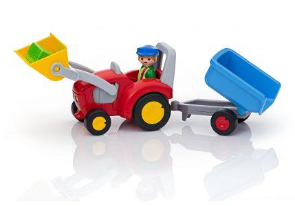 Playmobil 1.2.3 – Τρακτέρ Με Καρότσα 6964