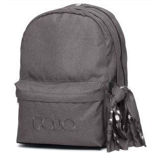 Polo Double Τσάντα Πλάτης Με Μαντήλι Γκρι 2020 9-01-235-09+ Δώρο Διορθωτική Ταινία Edding