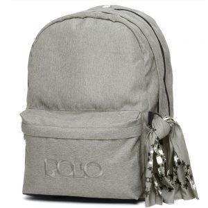 Polo Double Τσάντα Πλάτης Με Μαντήλι Ανοιχτό Γκρι 2020 9-01-235-08+ Δώρο Διορθωτική Ταινία Edding