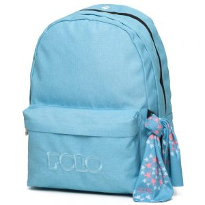Polo Double Τσάντα Πλάτης Με Μαντήλι Γαλάζιο 2020 9-01-235-17+ Δώρο Διορθωτική Ταινία Edding