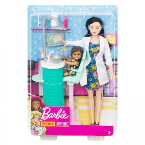 Mattel Barbie Dentist Doll & Playset Black Hair FXP17