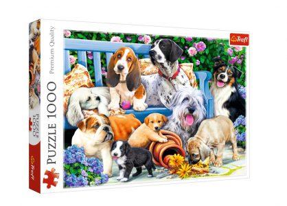 Trefl Puzzle 1000 Pcs Dogs in Garden 10556