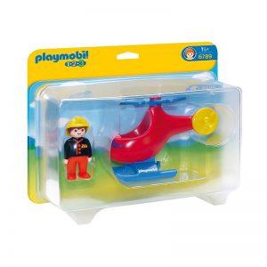 Playmobil 1.2.3 Πυροσβεστικό ελικόπτερο 6789