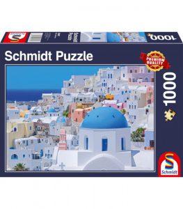 Schmidt Puzzle 1000 Pcs Santorini Cyclades Islands 58947