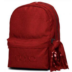 Polo – Τσάντα Πλάτης Original Double Με Μαντήλι Κόκκινο Σκούρο 2020 9-01-235-35 + Δώρο Διορθωτική Ταινία Edding