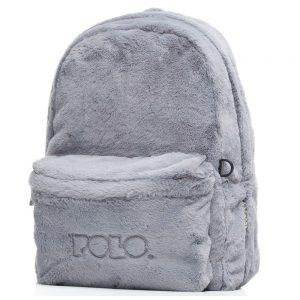 Polo – Σακίδιο Πλάτης Mini Fur Γκρι Γούνινο 2020 9-07-168-09 + Δώρο Διορθωτική Ταινία Edding
