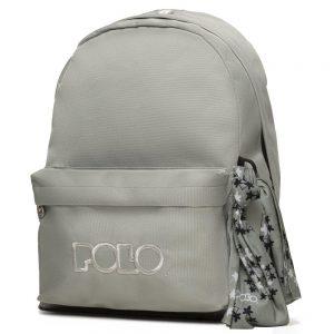 Polo – Original Τσάντα Πλάτης Με Μαντήλι  Γκρι Ανοιχτό 2020 9-01-135-09 + Δώρο Διορθωτική Ταινία Edding