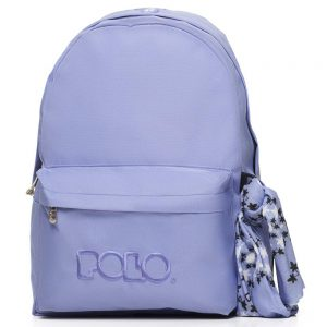 Polo – Original Τσάντα Πλάτης Με Μαντήλι Λιλά 2020 9-01-135-11+ Δώρο Διορθωτική Ταινία Edding