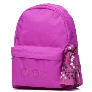 Polo – Original Τσάντα Πλάτης Με Μαντήλι Φούξια 2020 9-01-135-24 + Δώρο Διορθωτική Ταινία Edding