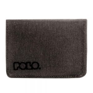 Polo – Πορτοφόλι RFiD Protected Small Wallet Jean Γκρι Ανθρακί 9-38-013-09
