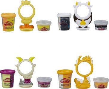 Hasbro – Play-Doh – Animal Crew Can Pals – 4 Σχέδια E6722