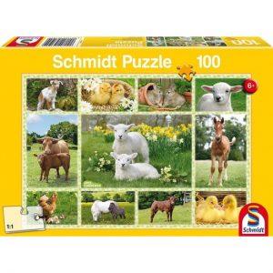 Schmidt Spiele – Puzzle Ζωάκια Της Φάρμας 100 Pcs 56194