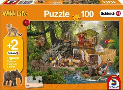 Schmidt Spiele – Puzzle Κέντρο Έρευνας Ζώων Με 2 Φιγούρες 100 Pcs 56238