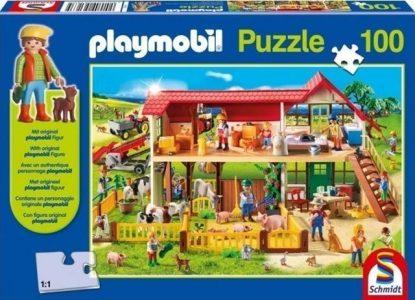Schmidt Spiele – Puzzle Playmobil Φάρμα Με Φιγούρα 100 Pcs 56163