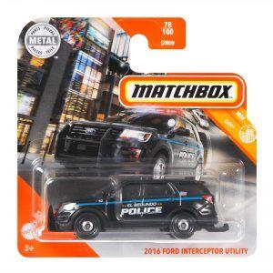 Mattel Matchbox – Αυτοκινητάκι 1:64 2016 Ford Interceptor Utility GKM65 (C0859)