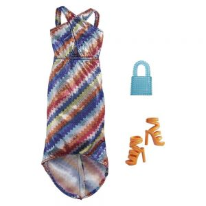 Mattel Barbie – Βραδινά Σύνολα Zig Zag Color Dress GRC03 (GWC27)