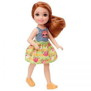 Mattel Barbie Club Chelsea – Καστανή Κούκλα Με Μπλουζάκι Βραδύποδας GHV66 (DWJ33)