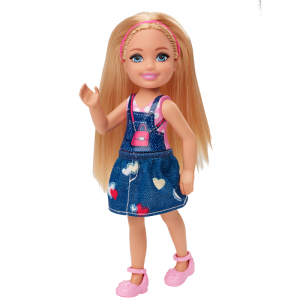 Mattel Barbie Club Chelsea – Ξανθιά Κούκλα Με Τζιν Φούστα GHV65 (DWJ33)