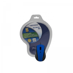 Esperanza – Ενσύρματο Ποντίκι Και Mousepad Gel USB Blue EM-125B
