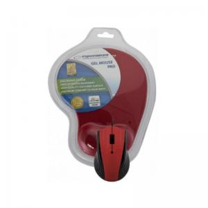 Esperanza – Ενσύρματο Ποντίκι Και Mousepad Gel USB Red EM-125R