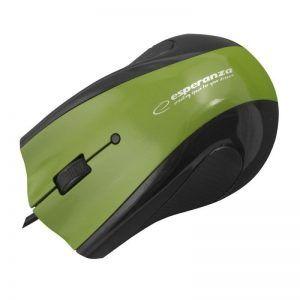Esperanza – Ενσύρματο Ποντίκι Και Mousepad Gel USB Green EM-125G