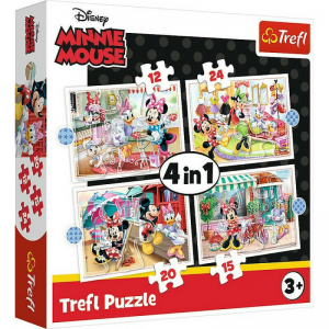 Trefl – Puzzle 4 in 1 Minnie Mouse And Friends 12/15/20/24 Pcs 34355