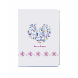 Diakakis – Σημειωματάριο Tesoro Ραφτό Sweet Dreams, Heart White/Purple A6 40 Φύλλων 52192