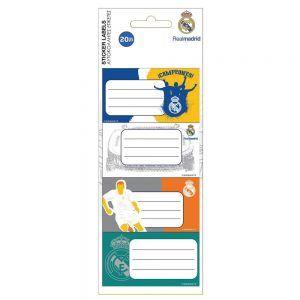 Diakakis – Ετικέτες Αυτοκόλλητες Τετραδίων, Real Madrid 20 Τμχ 170565